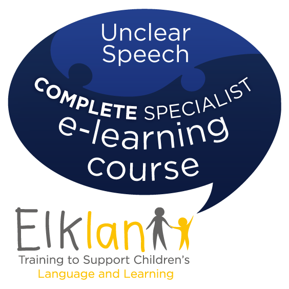 Supporting Children with Unclear Speech - e-learning course